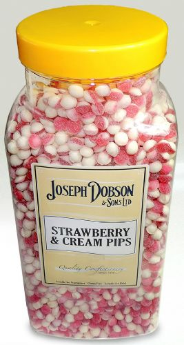 R71 DOBSONS STRAWBERRY CREAM PIPS 2.72KG
